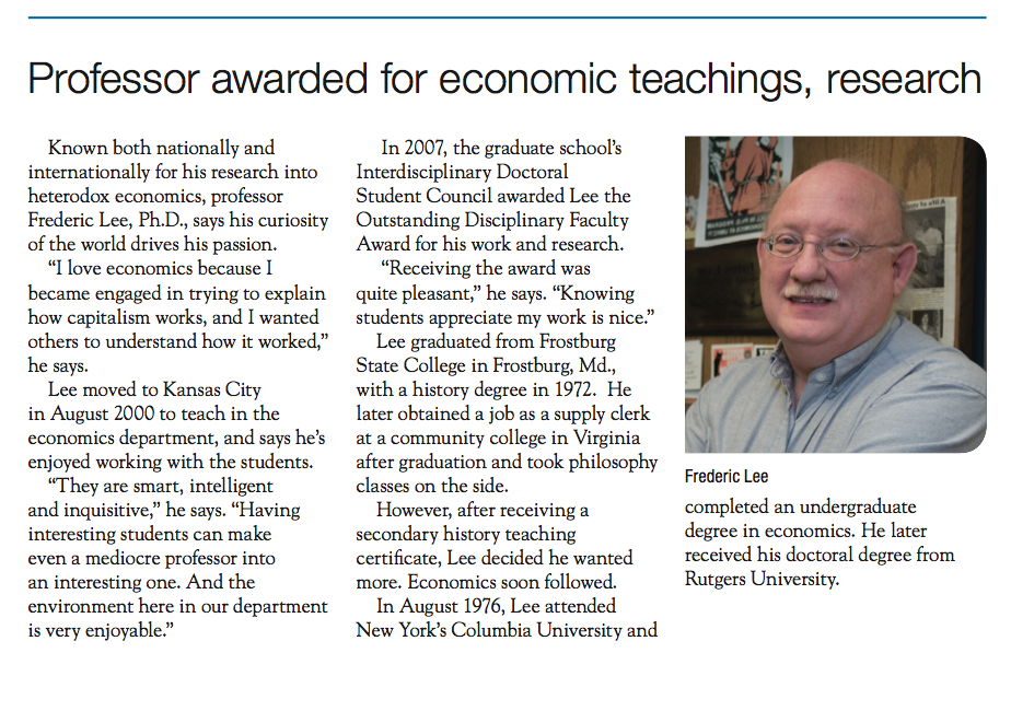 from the UMKC School of Graduate Studies Newsletter 2008